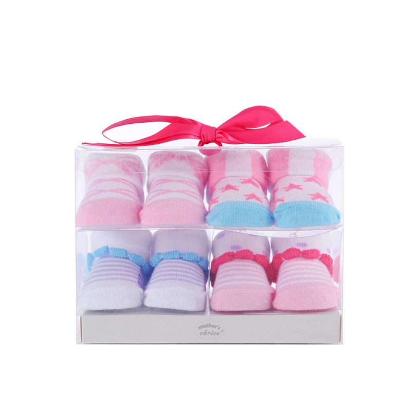 4-Pack Newborn Baby Girls Boys Socks