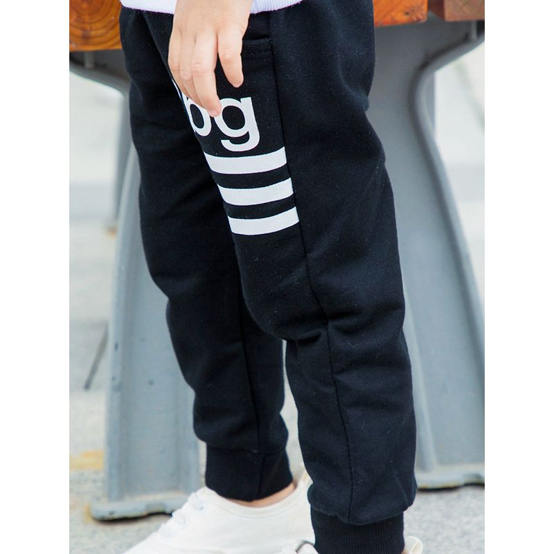 Baby Toddler Big Boys Girls Letters Casual Cotton Jogger Pants with Drawstring