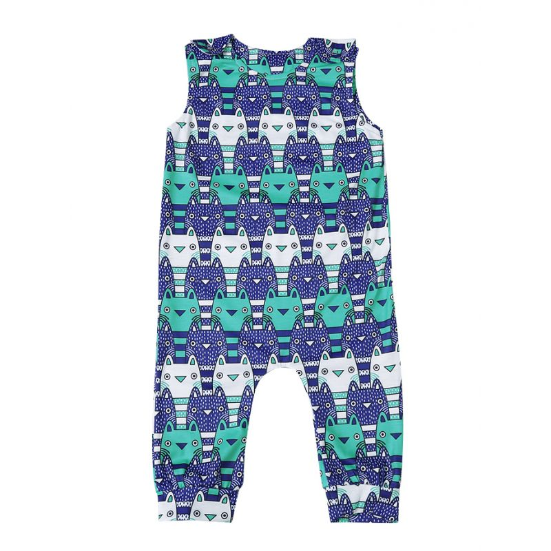 Cute Monster Baby Boys Girls Overalls Jumpsuit