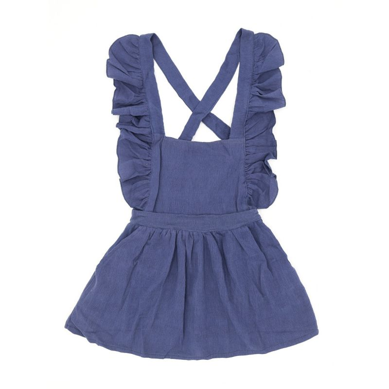 Baby Little Girl Spring Ruffled Casual Pinafore Dress
