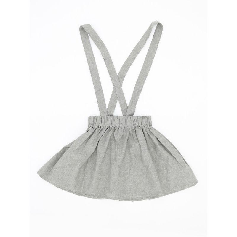 Infant Little Girl Solid Color Summer Jumper Skirt Kids Suspender Skirt