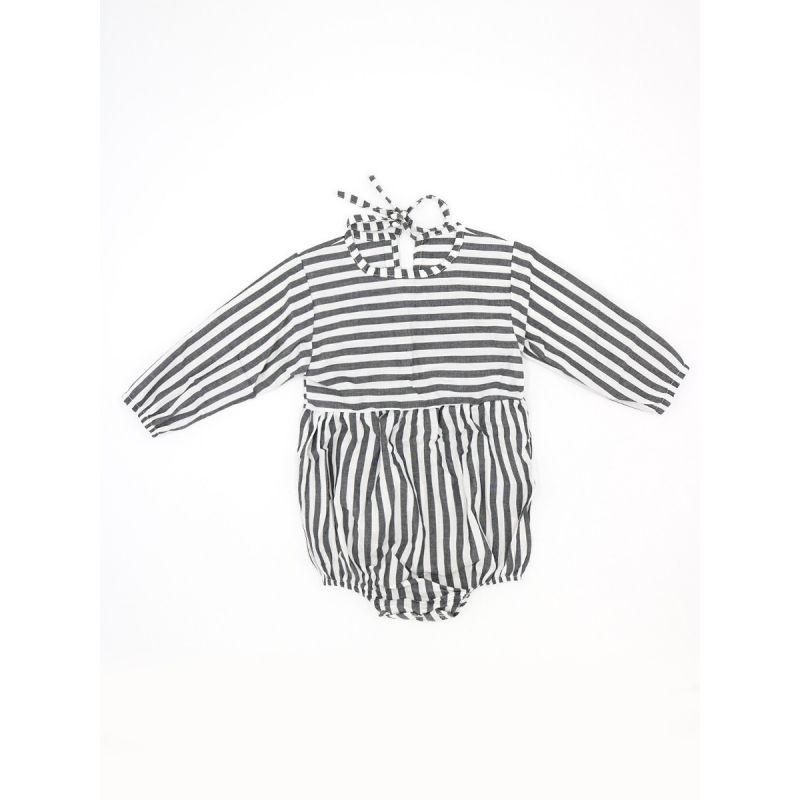 Infant Girl Black & White Spring Onesie Bodysuit