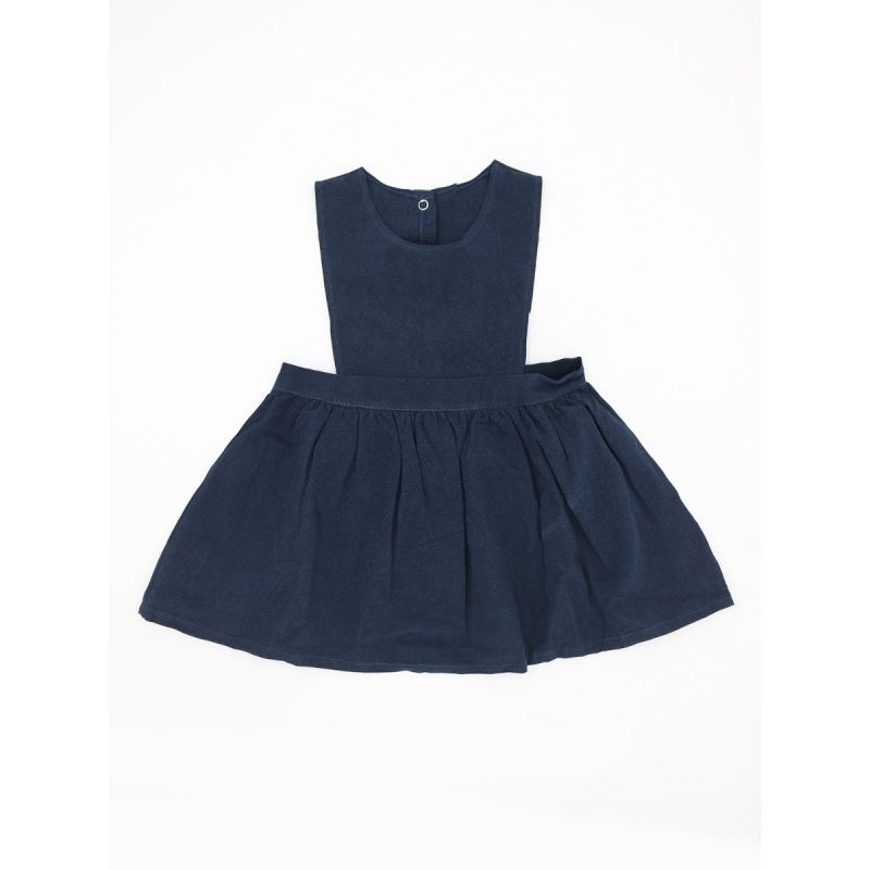 Baby School Girl Spring Summer Causal  Pinafore Dress