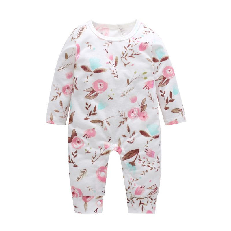 Baby Girl Floral Romper Spring Overalls