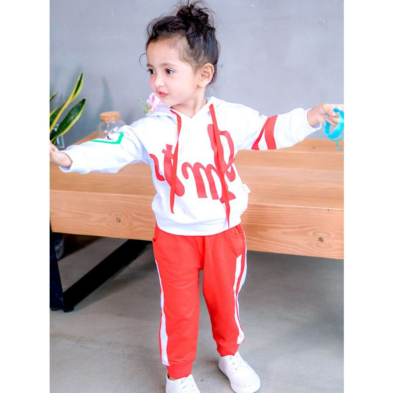 2-piece Baby Toddler Big Kids Spring Sport Suit Color-blocking Hoodie+Striped Sports Pants
