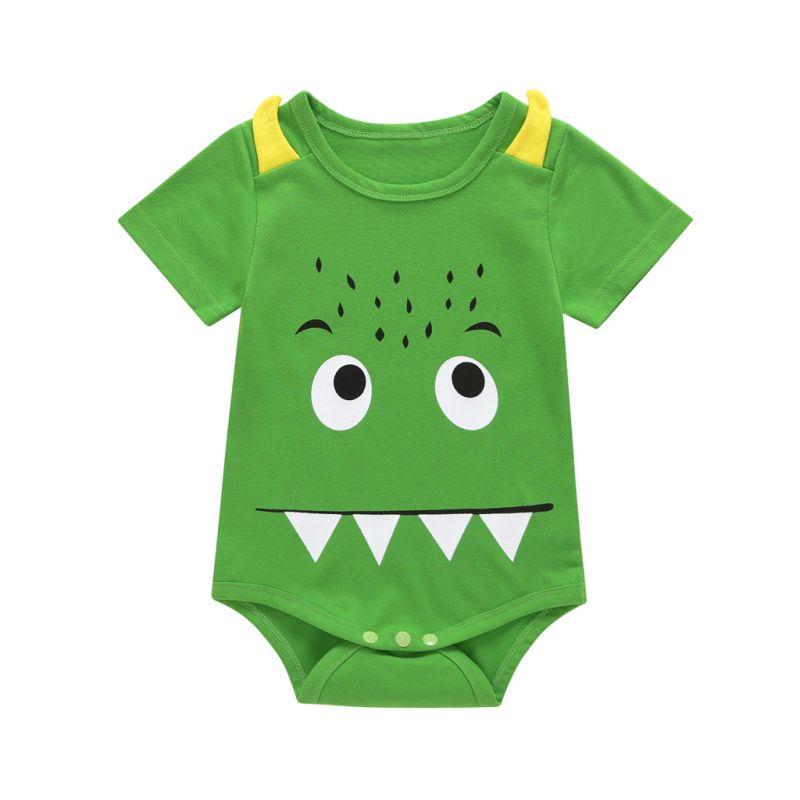 Cute Monster Baby Boys Summer Bodysuit Onesie