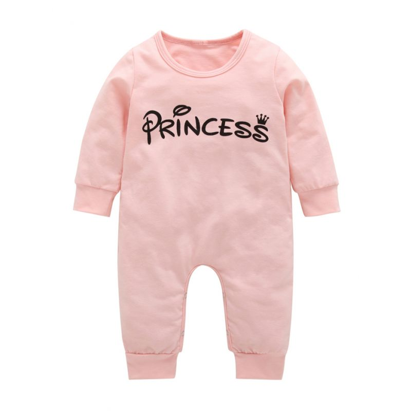 PRINCESS Baby Girl Spring Jumpsuit Infant Pink Overalls