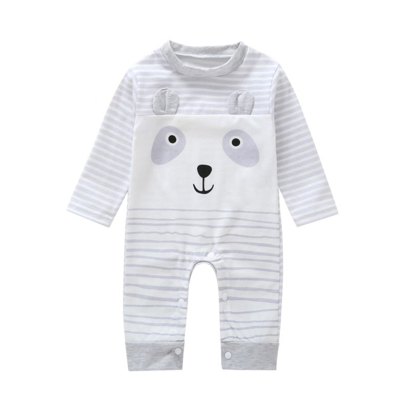 Cute Cartoon Animal Infant Unisex Overalls Baby Spring Jumpsuit Pajamas