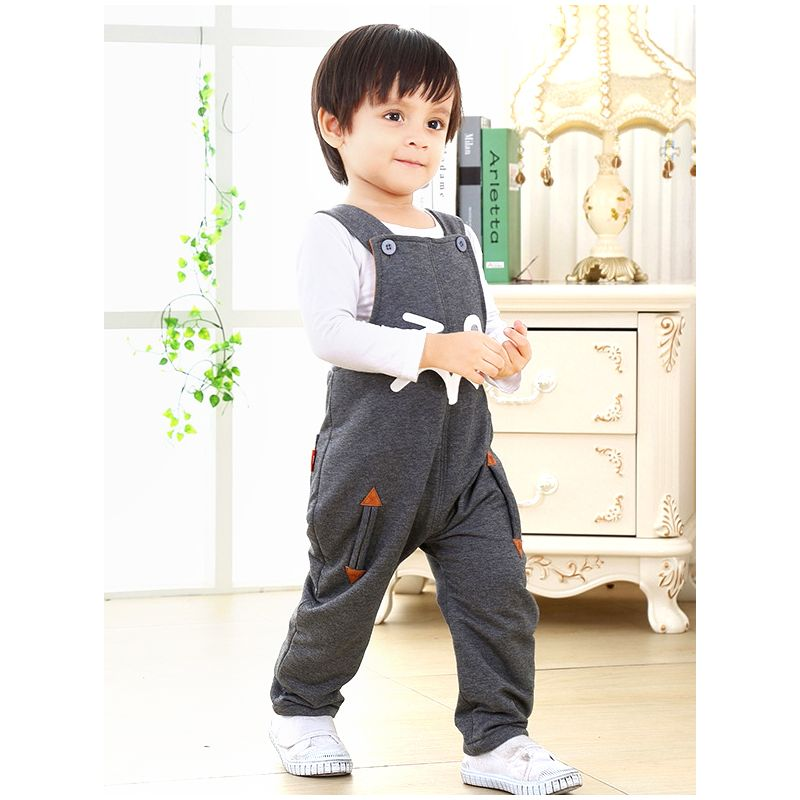 Baby Boy Winter Thick Suspender Pants