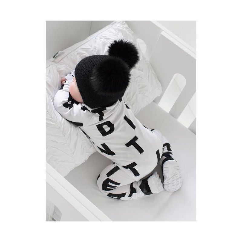 Letters Print Unisex Baby Spring Overalls Romper