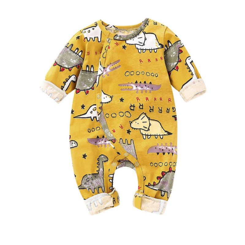 Cartoon Dinosaur Newborn Baby Spring Jumpsuit Overalls