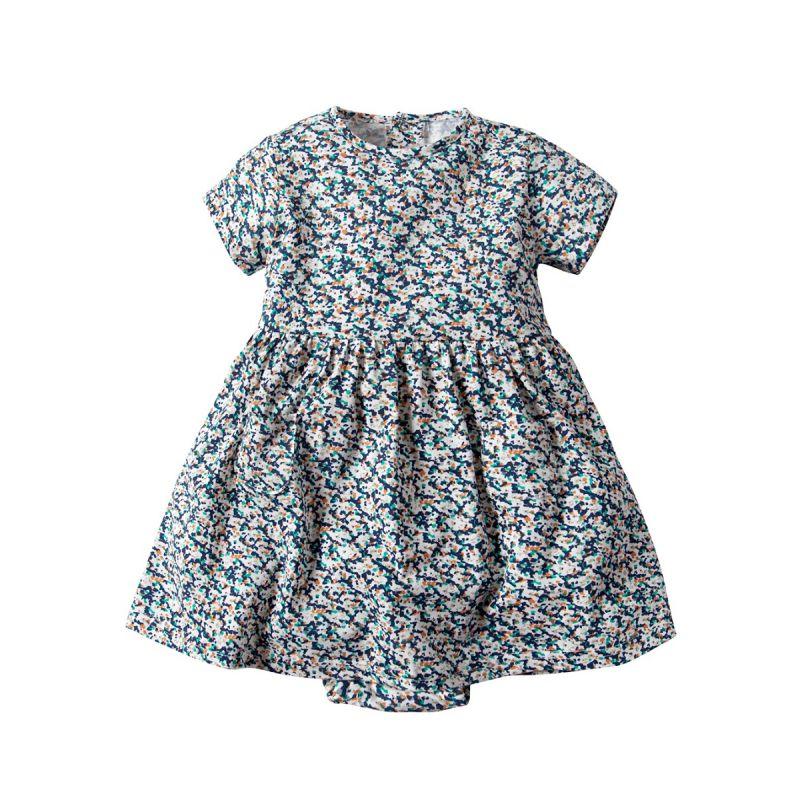 Infant Girl Summer Floral Casual Bodysuit Dress