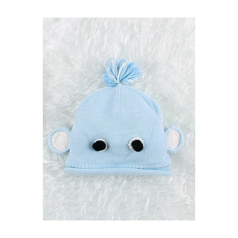 Adorable Blue Cartoon Newborn Infant Crochet Hat