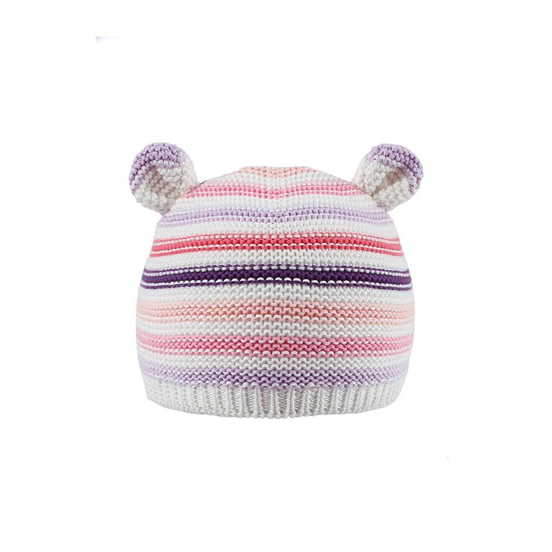 Cute Ear Color Blocking Baby Knitted Casual Hat