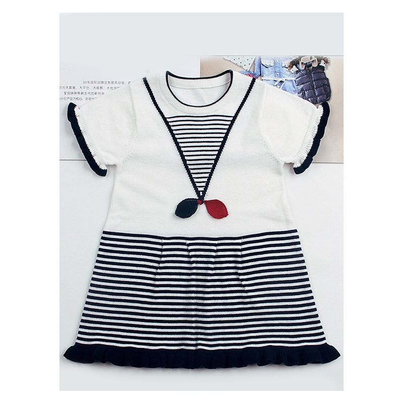 Baby Girl Summer Casual Ruffle Knit Dress