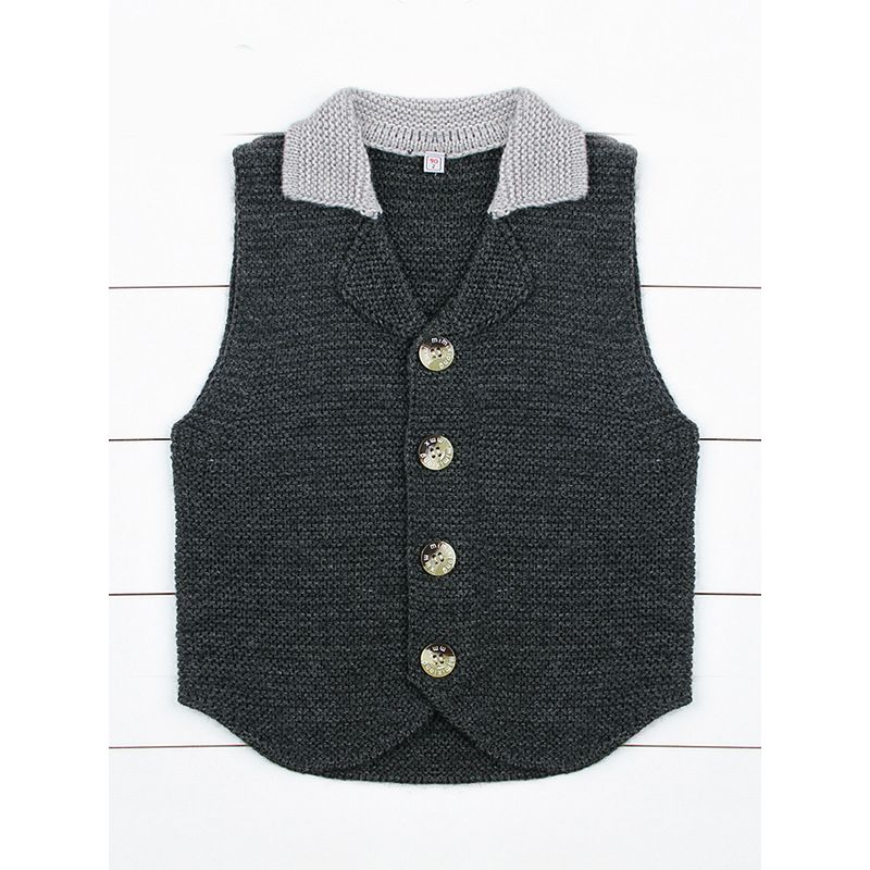 Fashion Toddler Boys Crochet Waistcoat