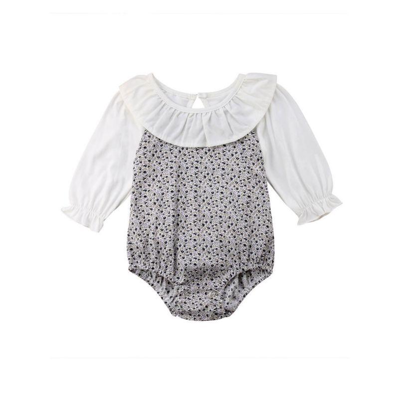 Ruffle Collar Infant Girl Romper Spring Onesie