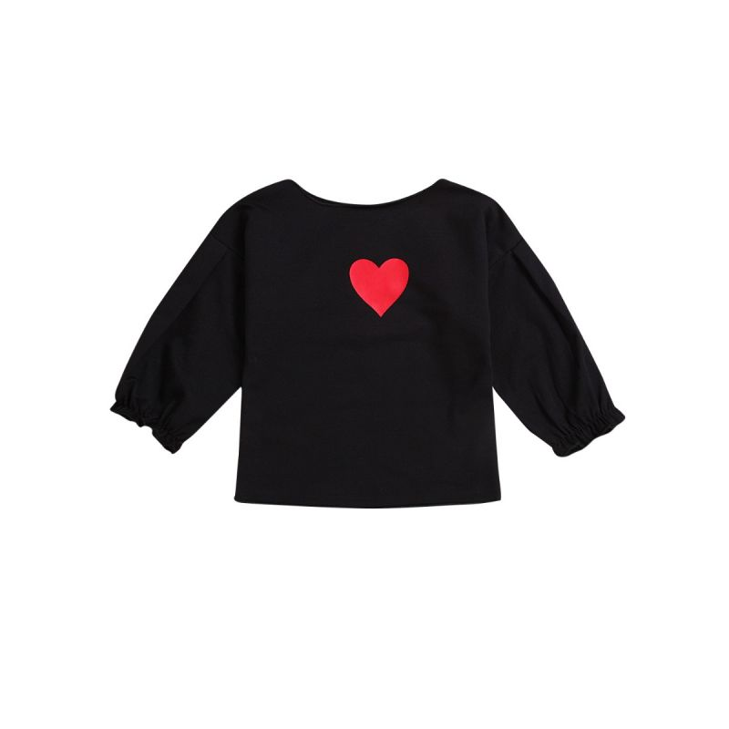 Baby Little Girl Love Heart Long Sleeve T-shirt Top for Spring
