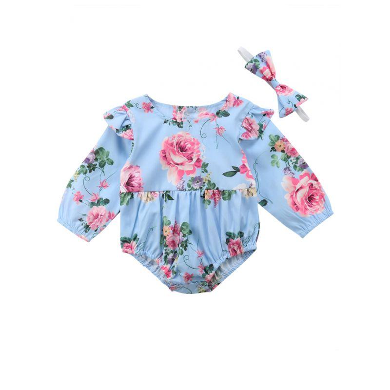 Flutter Sleeve Infant Girl Bodysuit with Headband