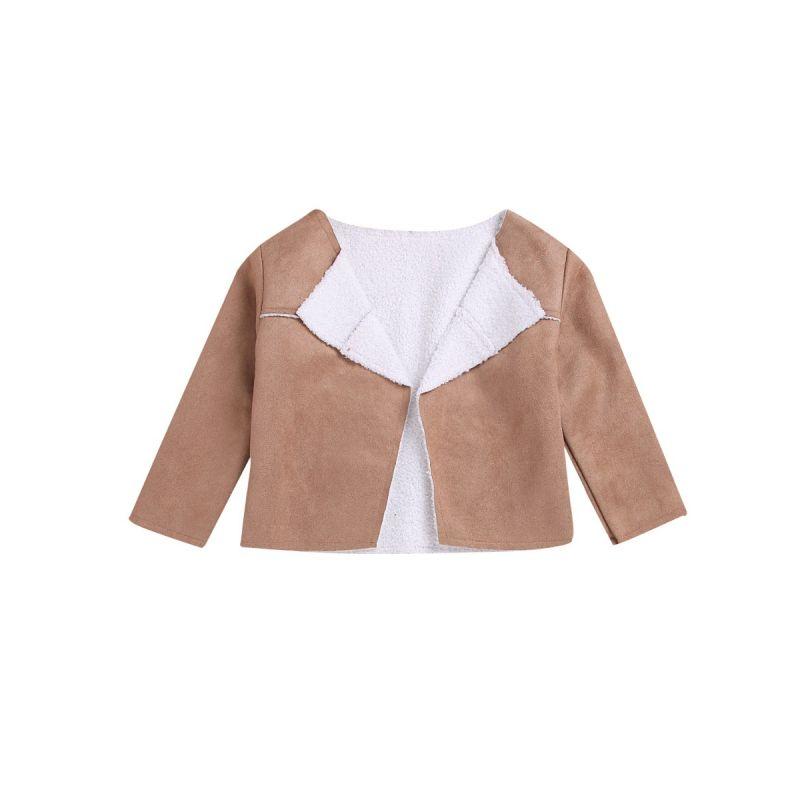 Stylish Baby Little Girl Fleece Jacket Tops