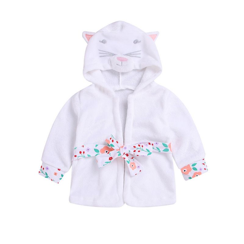 Infant Little Kids Cute Cartoon Animal Hooded Homewear Jacket Coat