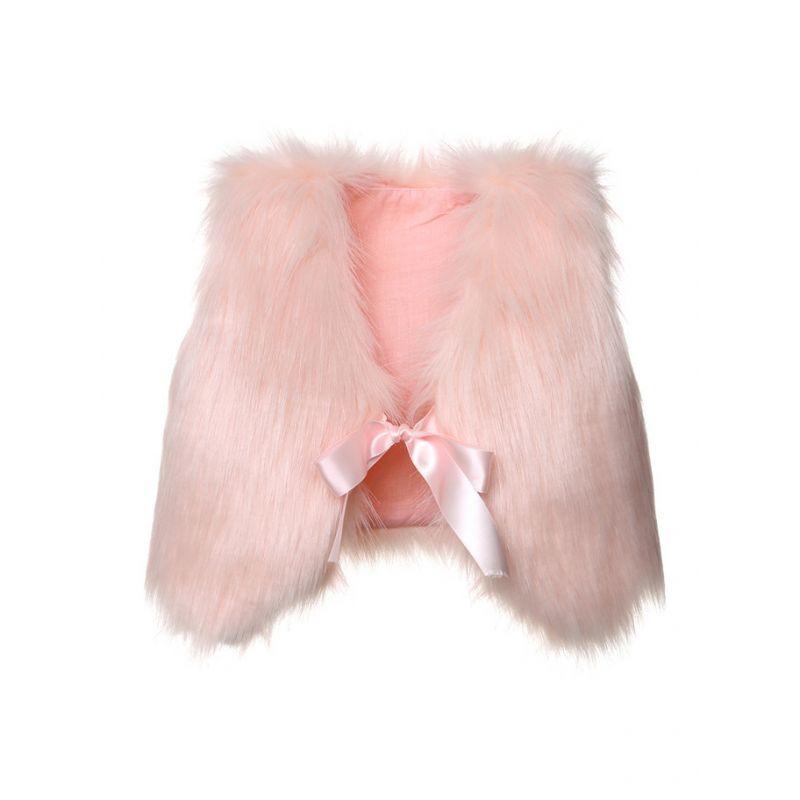 Toddler Infant Solid Color Faux Fur Vest Winter Warm Waistcoat -Do not support Custom Made Brandlabels