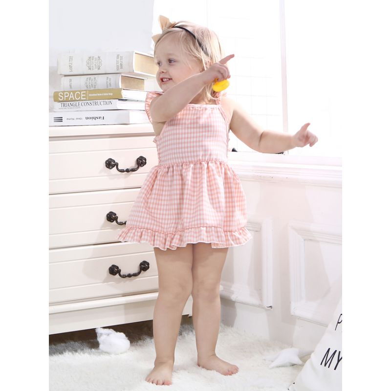 Summer Toddler Infant Girl Flutter Sleeve Ruffle Casual Dress