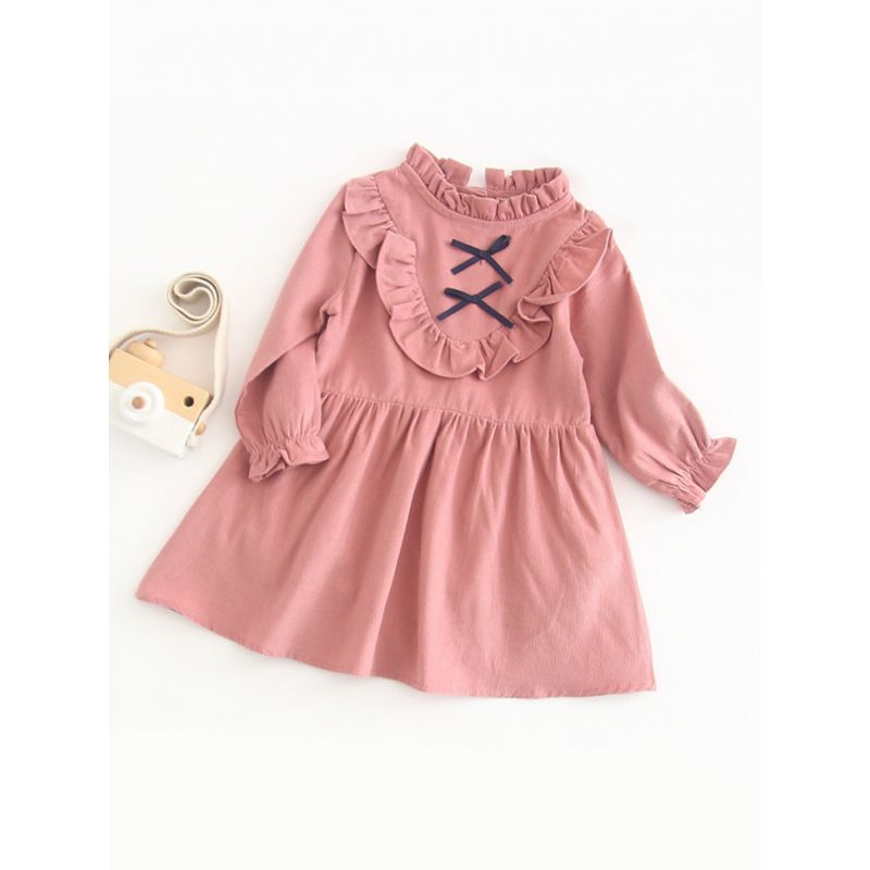 Spring Ruffle Collar Spanish Style Infant Girl Casual Dress