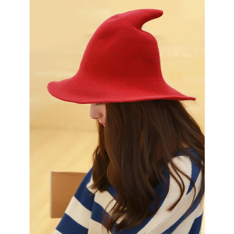 Stylish Adult Witch Hat Solid Color Cosplay Party Hat
