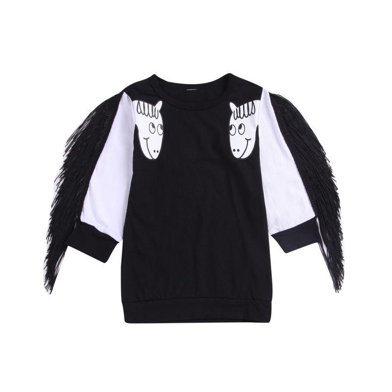Infant Toddler Girl Long-sleeved Unicorn Jumper Spring Kids Sweater