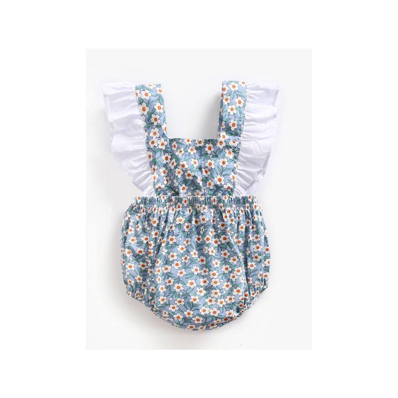 Floral Ruffle Infant Summer Onesie Romper