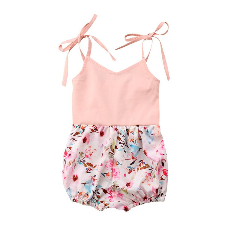 Summer Baby Girls Braces Romper Jumpsuit Outfits