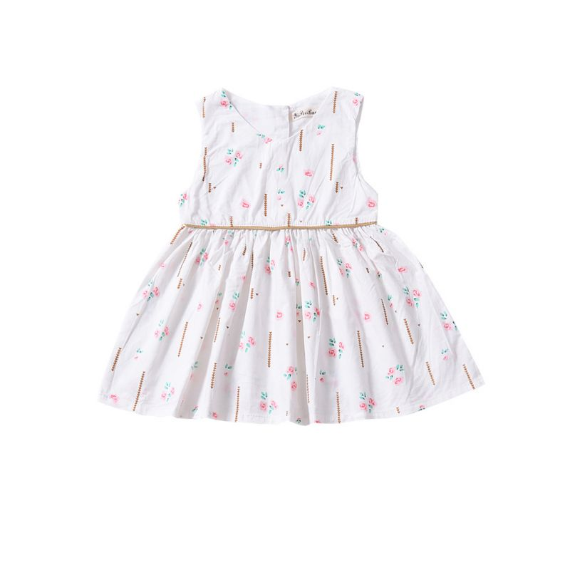 Summer Little Infant Girl Sleeveless Floral Dress