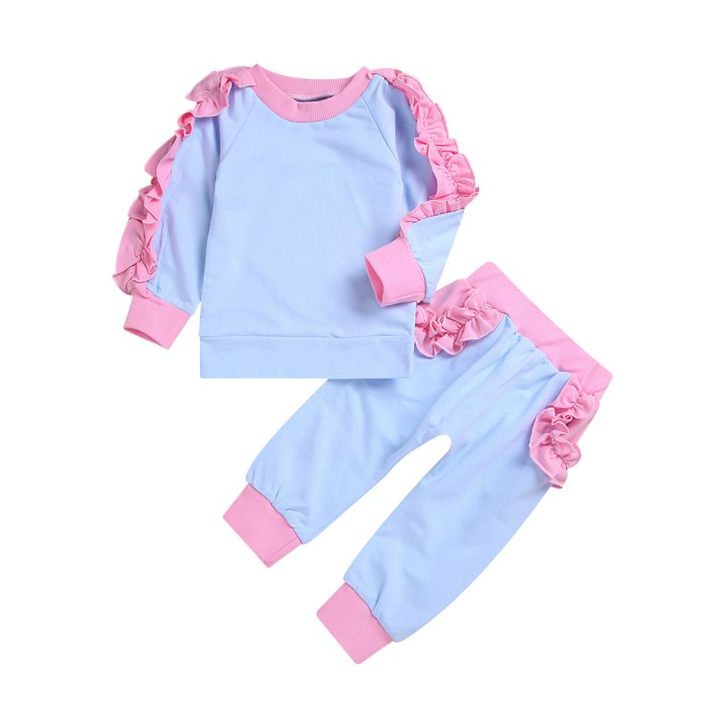 2-piece Baby Little Ruffle Jumper+Pants Set