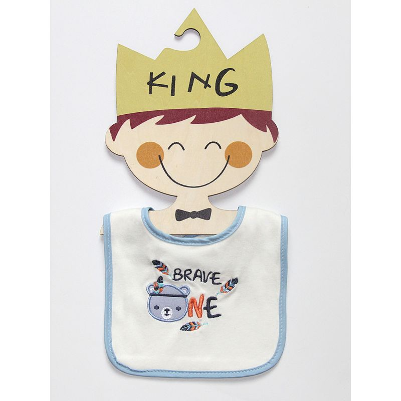 3-PACK Cute Newborn Baby Cartoon Bib Infant Burp Cloth Feeding