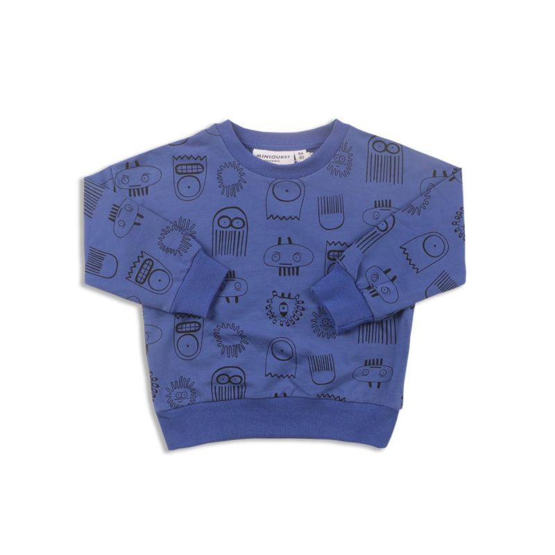 Spring Kids Cartoon Print Little Big Kids Jumper Sweatshirt