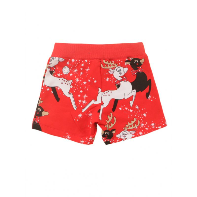 Baby Little Kids Christmas Reindeer Print Shorts