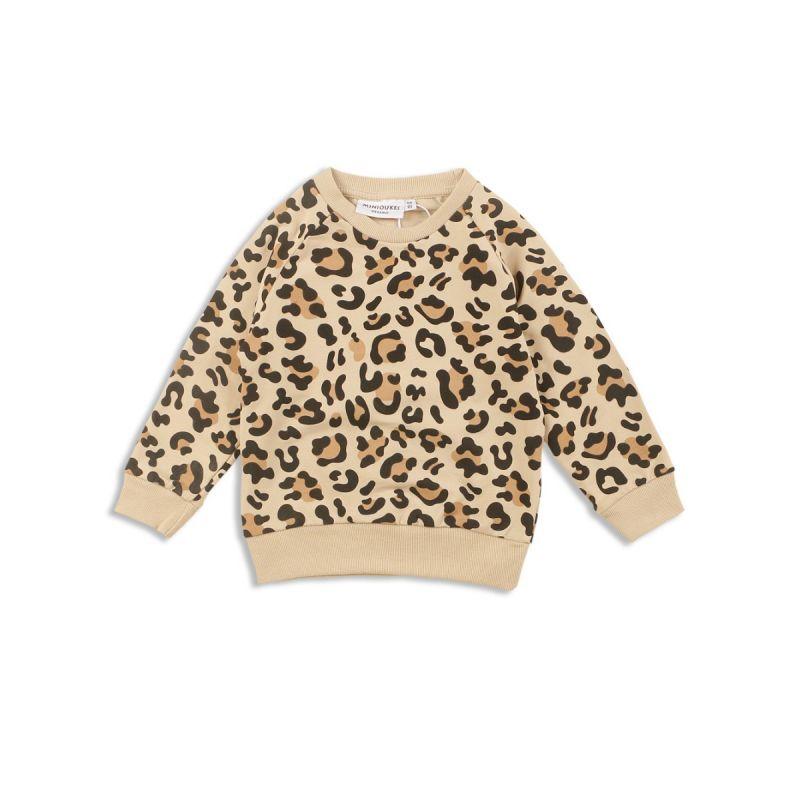 Fashion Spring Kids Leopard-spot Jumper Unisex Cotton Pullover