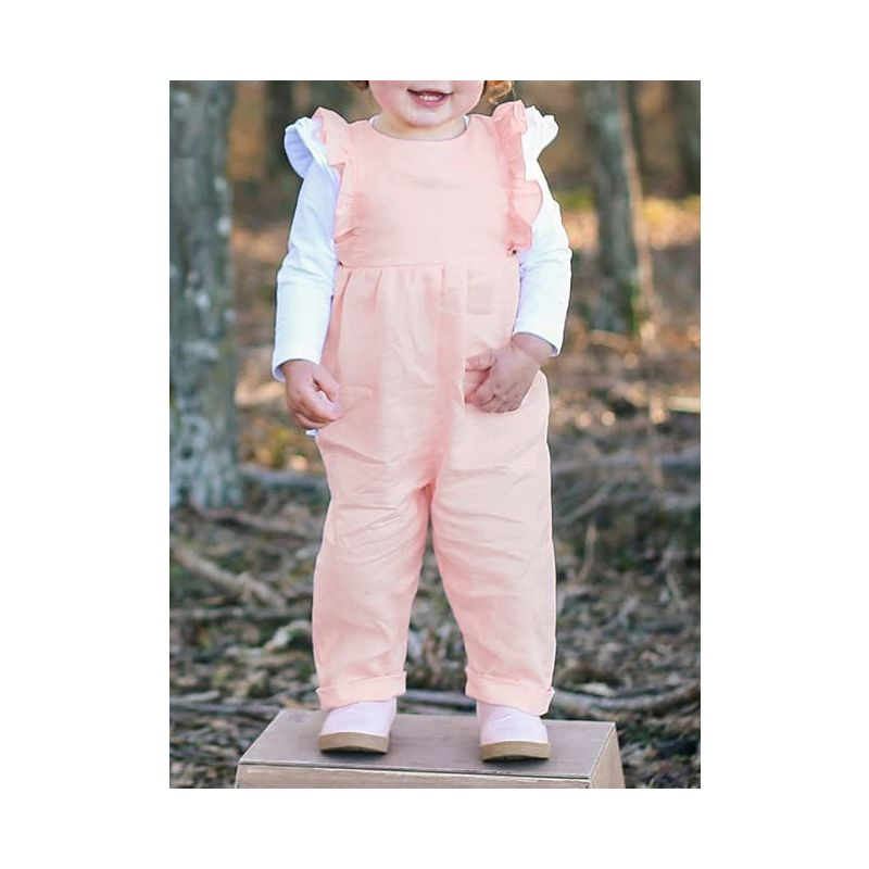 Solid Color Ruffle Baby Jumpsuit Overalls