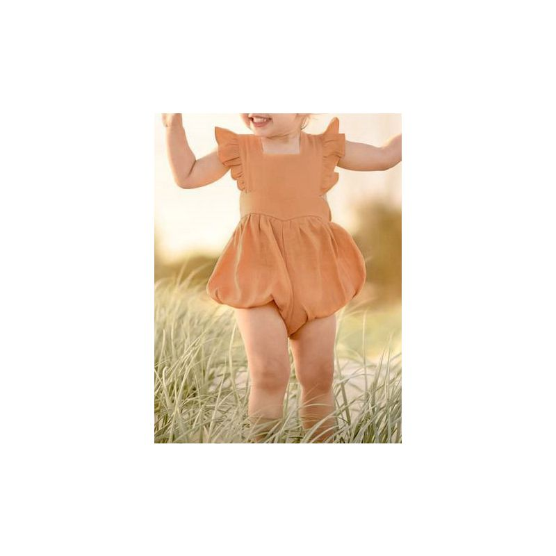 Summer Cute Solid Colour Baby Ruffle Bodysuit Onesie