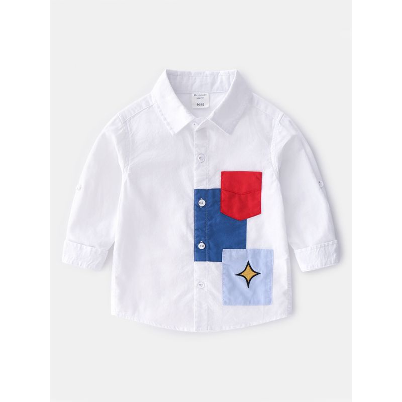 5-PACK Fashion Toddler Boys Color-blocking Casual Shirt