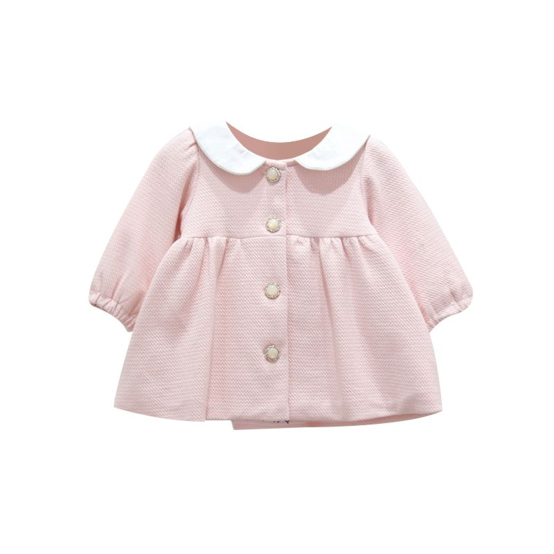 Spanish Style Baby Girl Bunny Pattern Long-sleeved Blouse Infant Easter Top