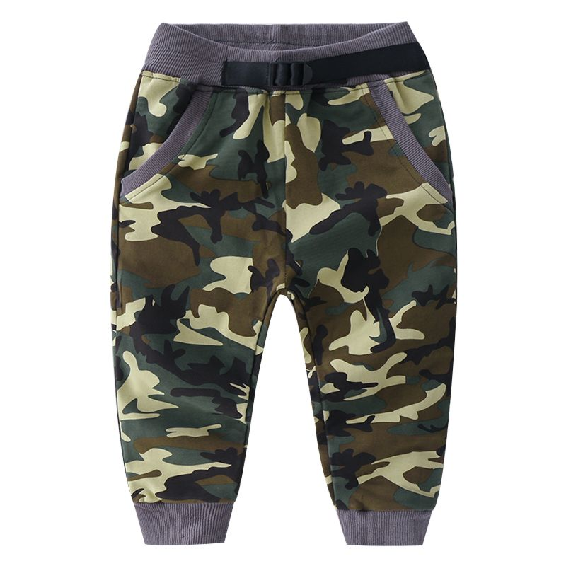 5-PACK Spring Kids Camo Casual Trousers Boys Tracksuit Bottoms