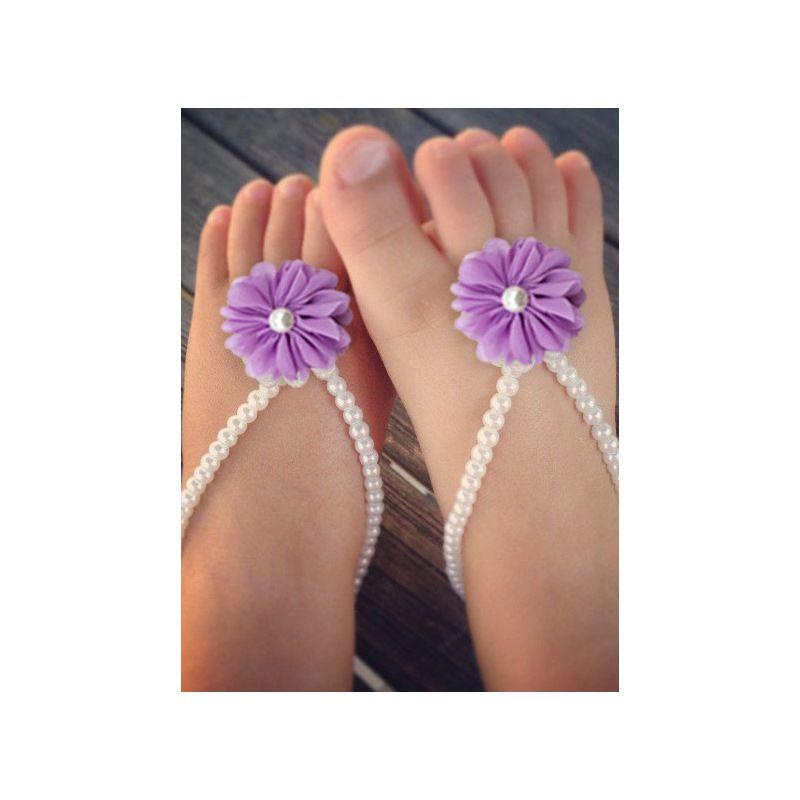 3-PACK Lovely Baby Flower Beaded Foot Chain Multi-Color Infant Vervel
