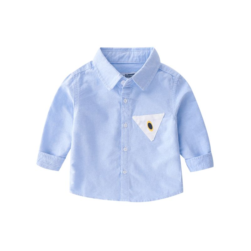 6-PACK Toddler Big Boys Applique Button-Down Collar Oxford Shirt Kids Spring Collection