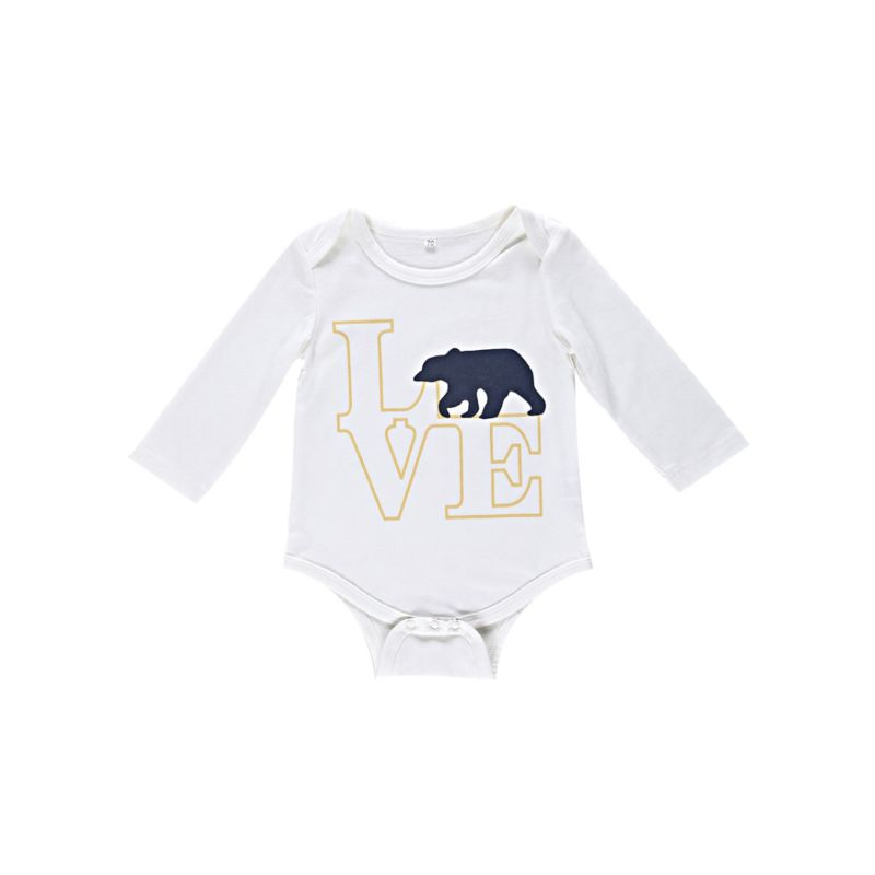 Spring Cartoon Animal Long-sleeved Baby Bodysuit