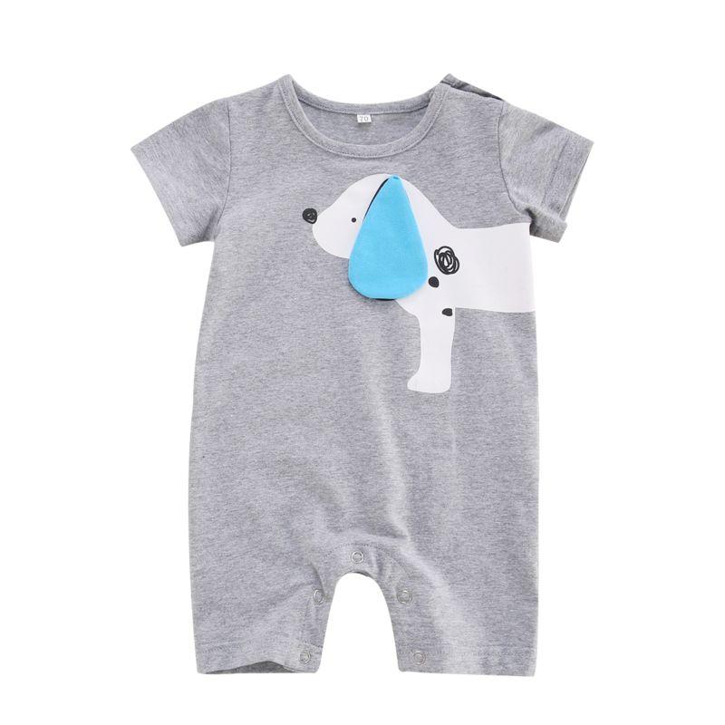 Summer Dog Pattern Short-sleeved Baby Romper