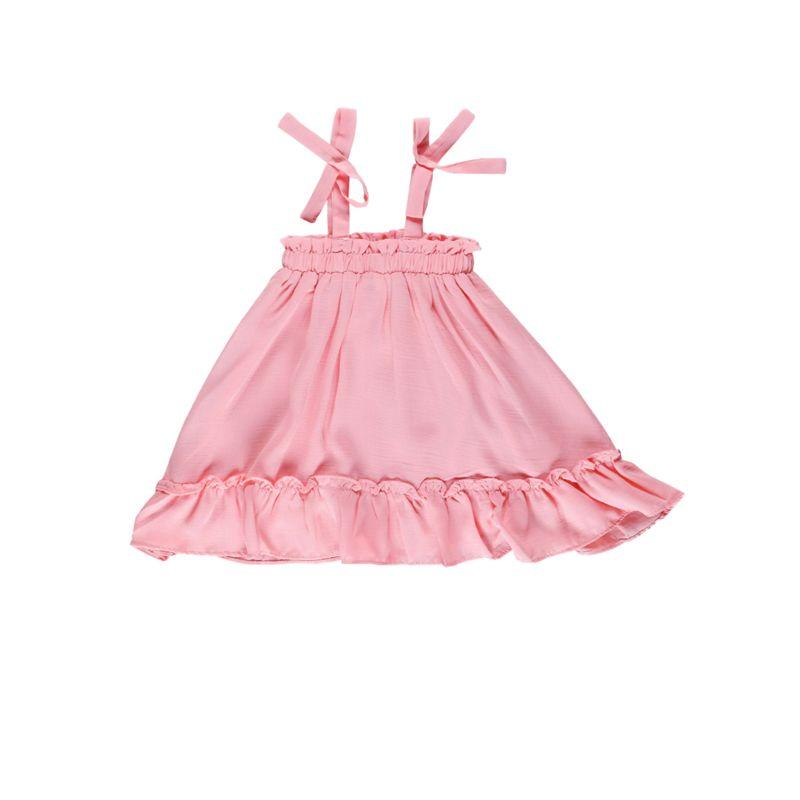 Summer Toddler Baby Girl Frilled Pink Sundress