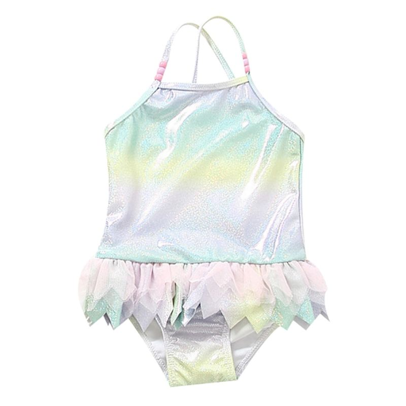 Toddler Baby Girl Shiny One Piece Swimming Suit Baby Swimwear