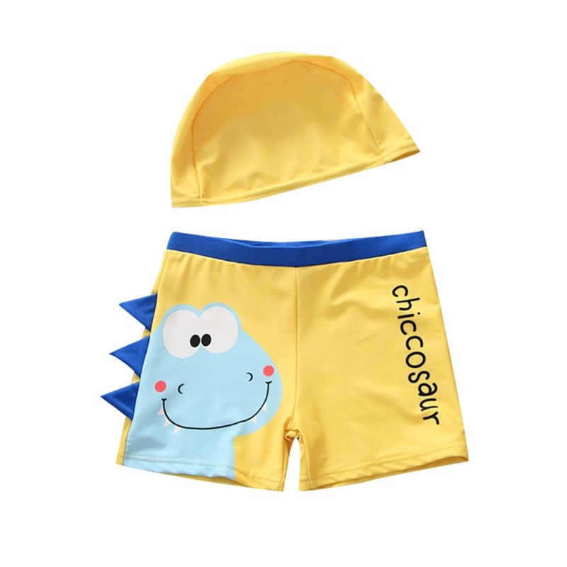 2-Piece Kids Baby Chiccosaur Swimming Trunks with Swim Hat